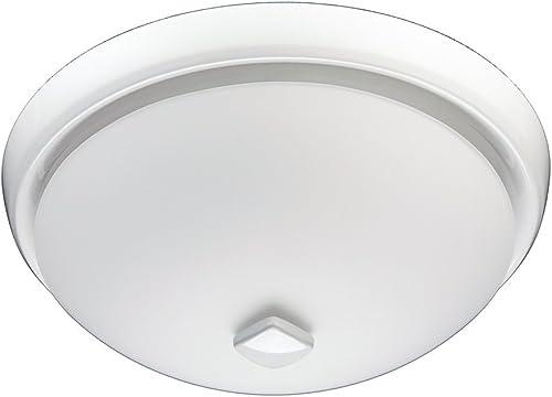 Broan 778WHNT White Glass Globe Ceiling Fan 80 CFM
