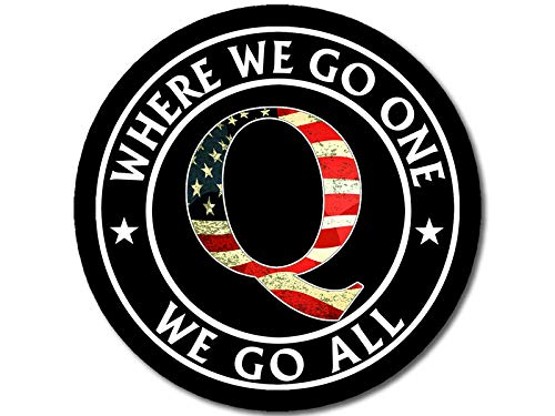 Black Round W/USA Q – Where We Go One We Go All...