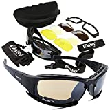 Ecosin Outdoor 4 Lens Kit Army Goggles Military Sunglasses Men's Outdoor Sports War Game Tactical Glasses