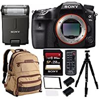 Sony a99II 42.4MP Digital SLR Camera with 3 LCD, Black (ILCA99M2) Deluxe Professional 256GB Bundle