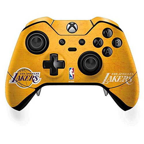 Skinit Los Angeles Lakers Gold Primary Logo Xbox One Elite Controller Skin - Officially Licensed NBA Gaming Decal - Ultra Thin, Lightweight Vinyl Decal Protection