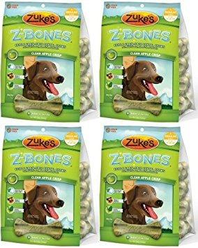 Zukes Z-Bones Edible Dental Chews Regular Apple Crisp 3lb 32ct(4x12oz) by Zuke's