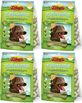 - Zukes Z-Bones Edible Dental Chews Regular Apple Crisp 3lb 32ct(4x12oz)