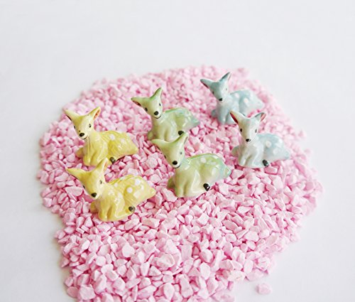 6 pcs Miniature Dollhouse Animal Fairy Garden Micro Landscape DIY Landscaping Handmade Color May Vary (Deer-01) (Cheap Flooring Patio Ideas Diy)