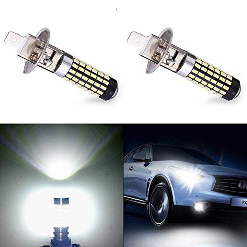 Catinbow LED Fog Light Bulbs H1 High Power 3014-78SMD Auto Fog Light Bulb Replacement 1500LM LED Fog lights DRL White 6000K - 2 Pcs
