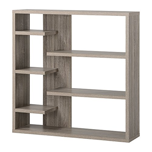 Homestar 6-Shelf Storage Bookcase in Reclaimed Wood by Home Star (Image #10)