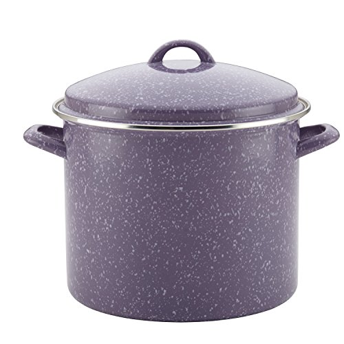 Paula Deen 46325 Enamel on Steel Stockpot, 12 quart, Lavender Speckle