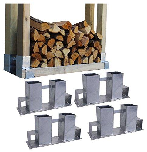 Brennholzregal obi  4x Holzstapelhilfe Feuerverzinkt Stapelhilfe Holzstapelhalter ...
