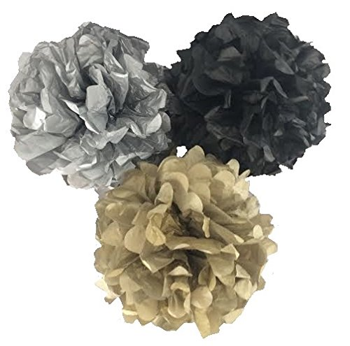 Premium Quality Tissue Paper Pom-Poms for Holiday, Anniversa