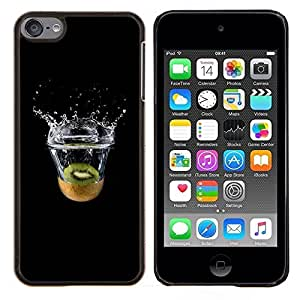 LECELL--Funda protectora / Cubierta / Piel For Apple iPod Touch 6 6th Touch6 -- Kiwi Splash --