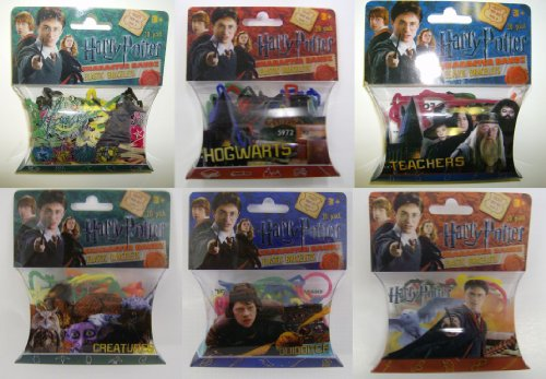 HARRY POTTER Silly Bandz Complete Collection HARRY POTTER, HOUSES, CREATURES, TEACHERS, QUIDDITCH, & HOGWARTS (6 Packs-20 Bandz Each) by Forever Collectibles (Image #1)
