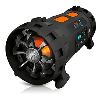 Image of Boomboxes Pyle Portable BoomBox Stereo Speaker w/ Wireless Bluetooth - Street Blaster X w/ Rechargeable Battery, AUX Input, FM Radio, MP3 System, Mic and Guitar Input - AZPBMSPG200