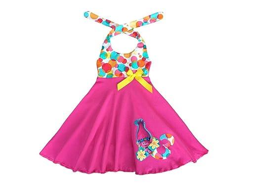 Amazon Com Poppy Troll Girl Dress Poppy Troll Birthday Party Dress