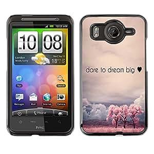 Dragon Case - FOR HTC G10 - dear to dream big - Caja protectora de pl??stico duro de la cubierta Dise?¡Ào Slim Fit