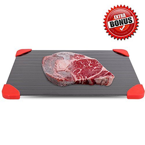 Defrosting Tray and Plate. Quick Meat thawing-magic defrosting tray for frozen food. As seen on TV,defrost-melting tray, no electricity. Rapid Defrost pad is fast metal tray for foods by PINE (Room Magic Set Cabinet)