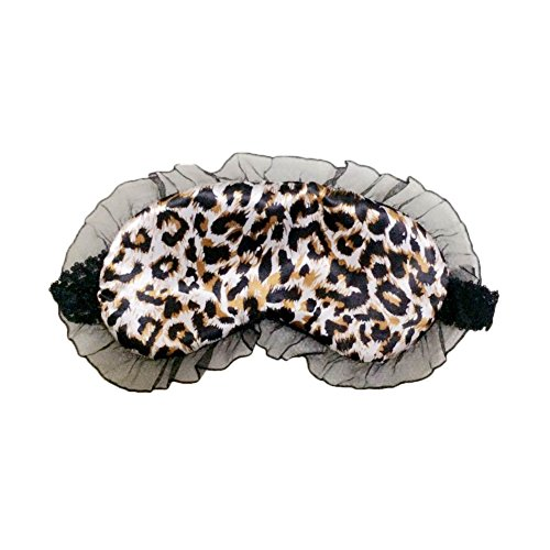 eeping Eye Mask Embroidery Blindfold Sleep Aid Cover Light Guide Eyeshade for Travel Home Office Rest, Leopard Print, One Size (Sleeping Leopard)