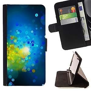 For Sony Xperia Z2 D6502 Case , Verde brillante Dots Spots Resumen- la tarjeta de Crédito Slots PU Funda de cuero Monedero caso cubierta de piel