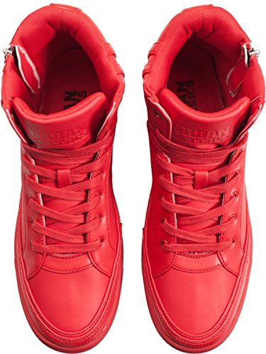 Adulto Top Zipper Rot Classics Fire Unisex Shoe 697 Sneaker Urban High Red Alte q81ft