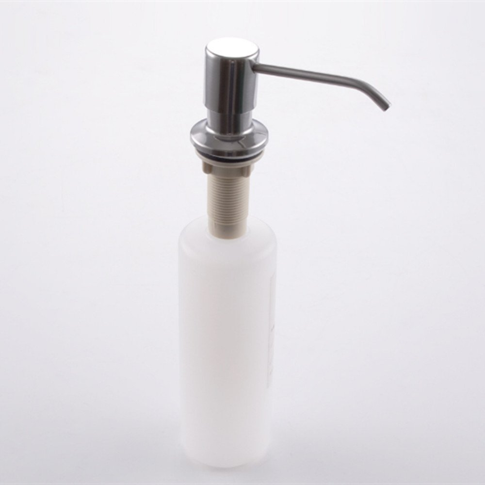 Kitchen Sink Soap Dispenser, Stainless Steel Soap Dispenser Brushed Nickel by LITVZ (Image #3)