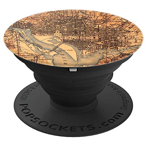 Washington D.C. Historical 1900 Map Potomac Anacostia Rivers - PopSockets Grip and Stand for Phones and Tablets