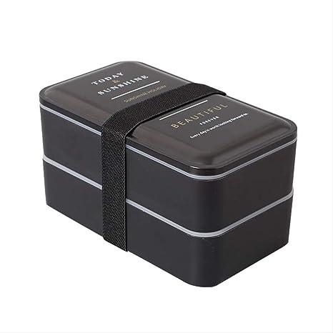 Yuan Ou 2000ml Caja De Almuerzo De Microondas Portátil Doble ...