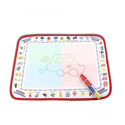 GOTD Water Drawing Painting Writing Mat Board Magic Pen Doodle Toy Gift 39X29cm