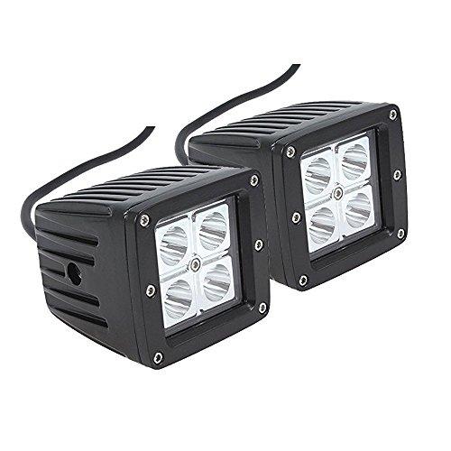 Led Light Br, QDY 2PC 16W Wareterproof Spot Cube Pod Led Work Light Driving Fog Lamp For Off Road Jeep JK ATV UTV Motorcycle Ford Truck … (Spot-br)