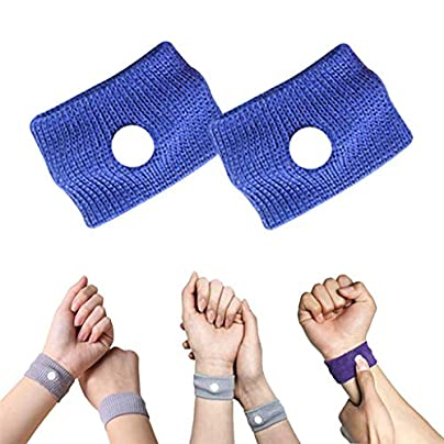 Vanproo Pack Blue Anti Nausea Wrist Bands Acupressure Wristbands Sickness Bands Ideal for Holiday and Travel Pregnancy Gift Estimated Price £1.99 -