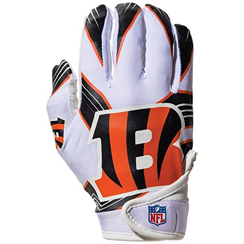Bengals Finger Football Game (NFL Cincinnati Bengals Youth Receiver Gloves,White,Medium)
