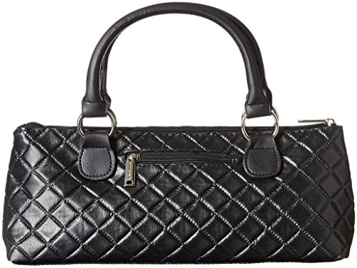 Primeware Clutch Insulated Single Bottle Wine Tote, Black Quilted