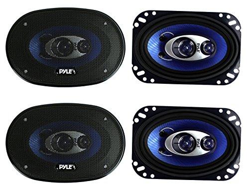 4) New Pyle PL463BL 4x6