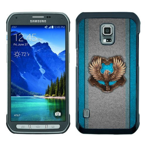 BEIWU Generic S5 Active Protective Case,Harry Potter Ravenclaw Carrying Ultra Slim Case Fit for Samsung Galaxy S5 Active(Black)