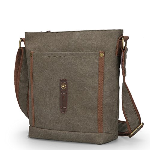 brown la Coreano Bolsos bag de de de A hombre paquete bolso lona Bandoleras A moda la gwfqB0
