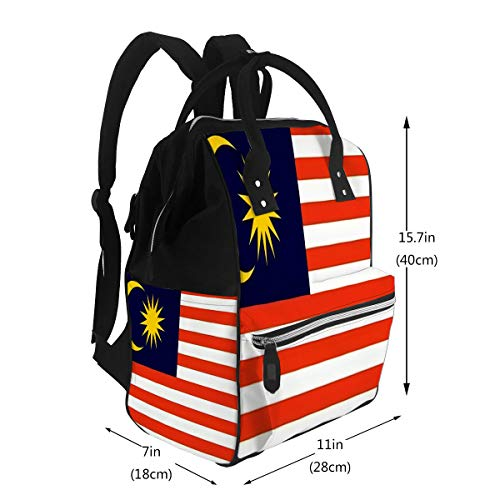 Diaper Bag Backpack, Multifunction Travel Back Pack National Flag of Malaysia Country World Maternity Baby Changing Bags