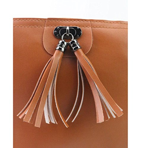 Bag Handbag 1cm Fashion Mini White Shoulder Tassel 21cm 17cm Xinantime Brown Women a8wIfq8xY