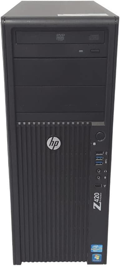 HP Z420 Xeon E5-1620 3.6GHz 8GB RAM 500GB HDD DVD+RW Windows 7 Pro Workstation