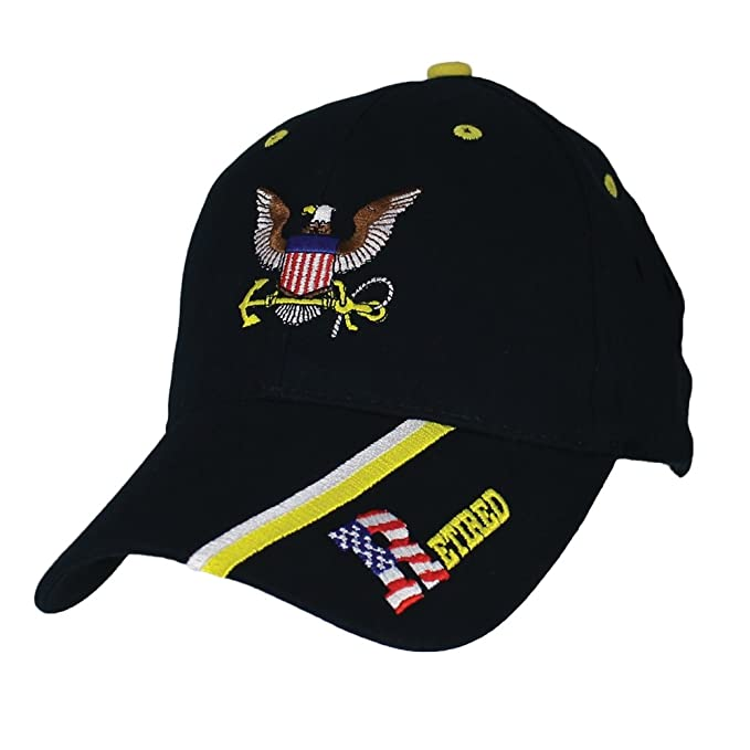 Amazon.com  U.S. Navy Retired Baseball Cap. Navy Blue  Clothing b995d760fe68