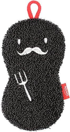[해외]サンベルム 주방 스펀지 ニコット 니코니코 스폰지 댄 디 블랙 K55812 / Sambelm Kitchen Sponge Nicot Nico Nico Sponge Dandy Black K55812