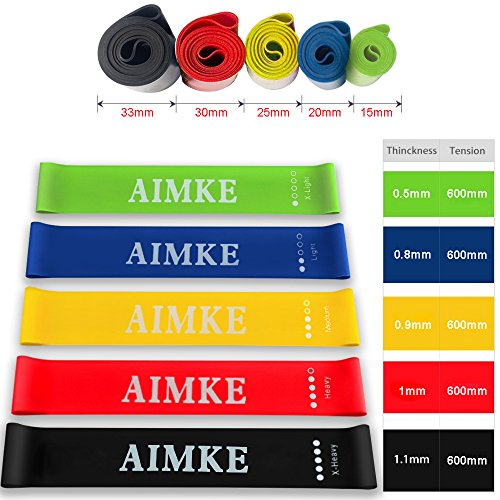 AIMKE Resistance Bands, Resistance Loop Exercise Bands, Durable Pull Up Assist Bands, Stretch Bands for Physical Therapy, Workout Bands Set for Yoga, Home Gym