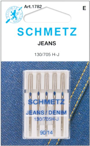 Jean & Denim Machine Needles-Size 14/90 5/Pkg *** Product Description: Jean Only Schmetz Provides The Uncompromising; Consistent Quality That Produces The Perfect Stitch Every Time. These Needles Are Suitable For Woven Fabrics And Can Be Used Wit ***