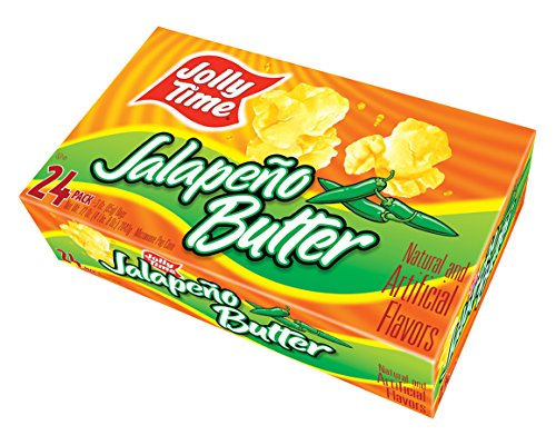 Jolly Time Jalapeno Butter Spicy Microwave Popcorn | Gourmet Savory Hot Pepper Flavor, Gluten-Free, made with Non-GMO Corn (24-Count ()