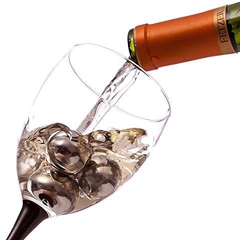 Wine Rocks: BlizeTec Reusable Beverage Cubes & Whiskey Chilling Stones (4pcs)