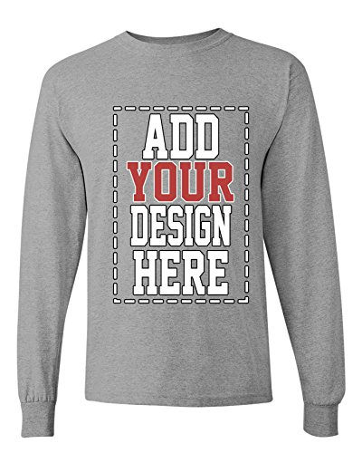 Custom Long Sleeve Shirts for Men - Make Your OWN Shirt - Add Your Design Picture Photo Text Printing