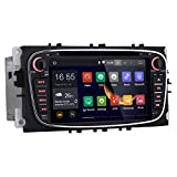 Rupse For Ford Mondeo S-max Focus Galaxy 7 inch Android 4.4 2 Din Car DVD Player GPS Navigation 1024*600 AM/FM Radio SD USB DVR 1080P OBD2 3G Wifi (OEM Factory Style,Free Maps)