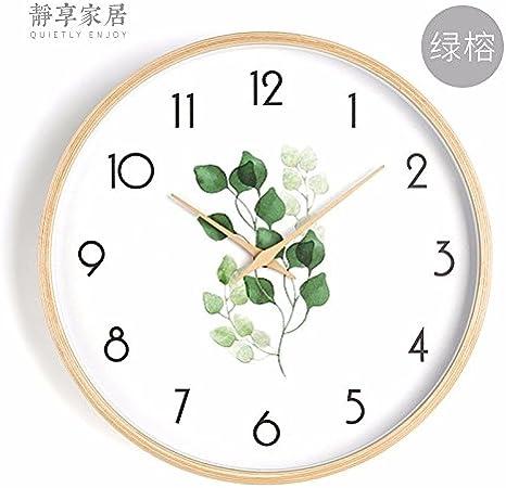 Chambre Horloge Murale Style Japonais Horloge D/écorative pour Salon 002 Espace Bureau Non Ticking Horloges 12 Pouces WuuLii Decor Horloge Murale