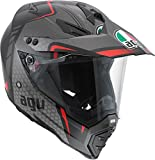 AGV AX-8 Dual Sport Evo Helmet (Black/Silver/Red, Medium)