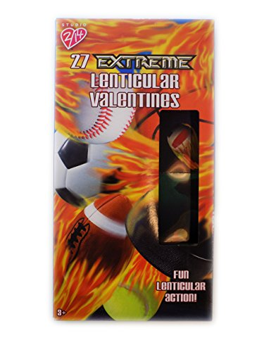 27 Lenticular Extreme Sports Valentine Cards for Classroom Sharing