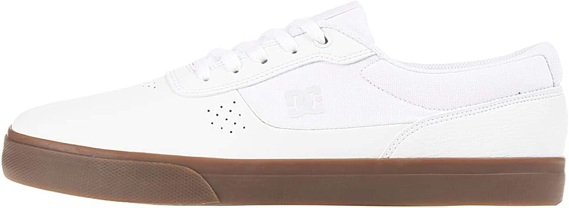 DC Shoes Switch Sneakers Herren Weiß/Kautschuk (Gum)