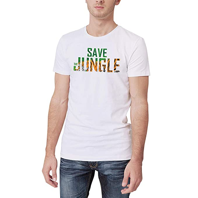 a685646a4b5 2019 New! WYTong Save Jungle Letter Printed T Shirt Men Summer Short Sleeve  Personality Tee