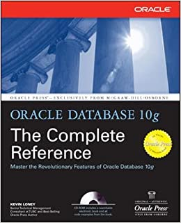 Buy Oracle Database 10g The Complete Reference Press Book Online At Low Prices In India